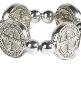 St. Benedict Stretch Medal Ring