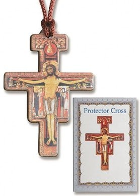San Damiano Pendant w/Prayer Card