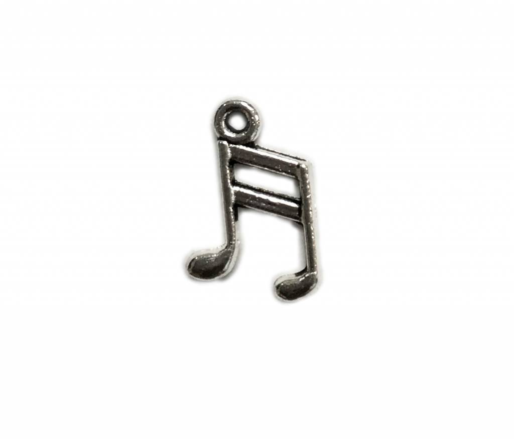 Music Note Metal Charm