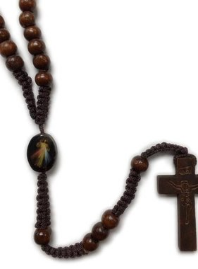 Divine Mercy Wood Rosary