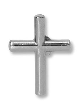 Silver Cross Lapel Pin