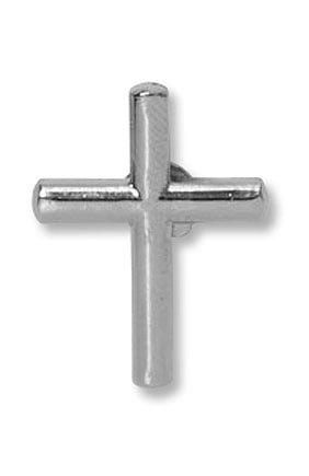 Silver Cross Lapel Pin