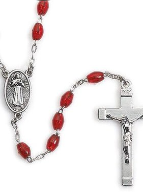 Divine Mercy Red Bead Rosary