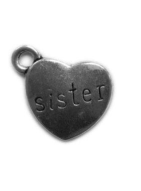 Sister at Heart Metal Charm