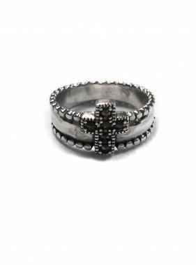 Marcasite Cross SS Ring