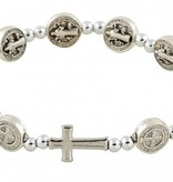 St. Benedict Medals Stretch Rosary Bracelet