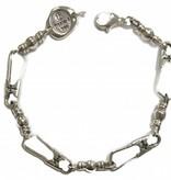 Original Large Link w/Crosses SS Bracelet