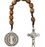 St. Benedict Brown Pocket Rosary
