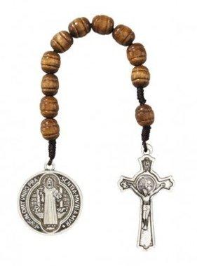 St. Benedict Brown Pocket Rosary