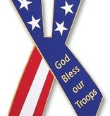 God Bless Our Troops Auto Magnet