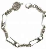 Original Link w/Crosses SS Bracelet