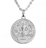 St. Benedict Pendant w/Silver Chain