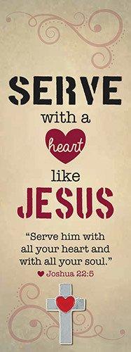 Serve like Jesus Lapel Pin w/Bookmark