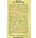 Novena to St. Peter and Paul Prayer Card