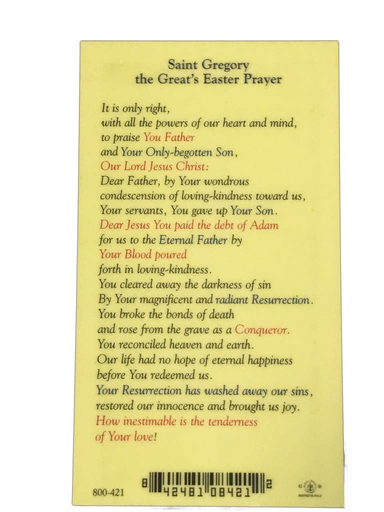 St. Gregory the Great's Easter Prayer