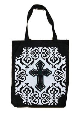 Cross Nylon Tote Bag