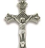 "1.75"" Flared Crucifix Metal Pendant w/cord"