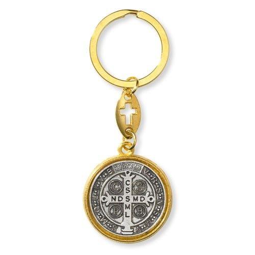 St. Benedict Two-Tone Keychain