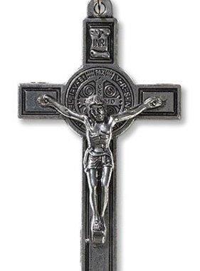 St Benedict Silver Tone Crucifix