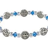 St. Benedict Medal Sapphire Bracelet