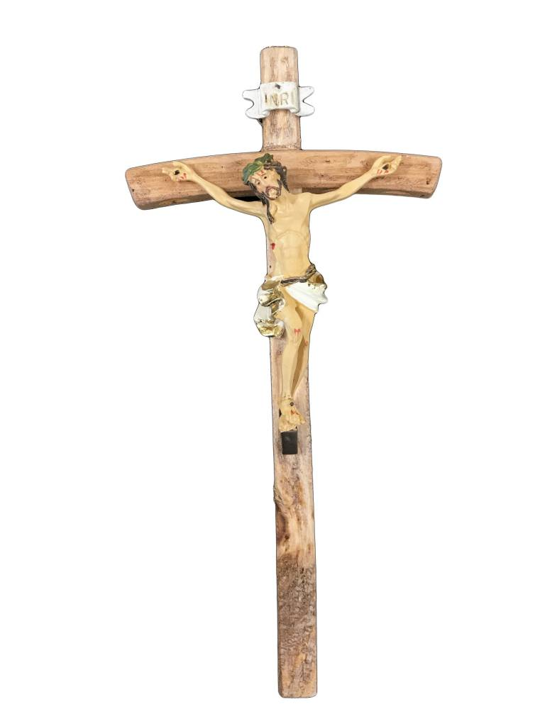 "10"" Wood Papal Cross"