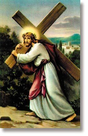 Splinters From the Cross Holy Card