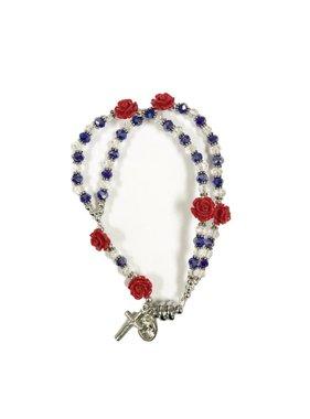 Divine Mercy Rose Rosary Bracelet