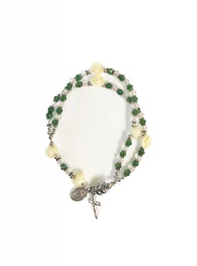 Our Lady of Guadalupe Rose Rosary Bracelet