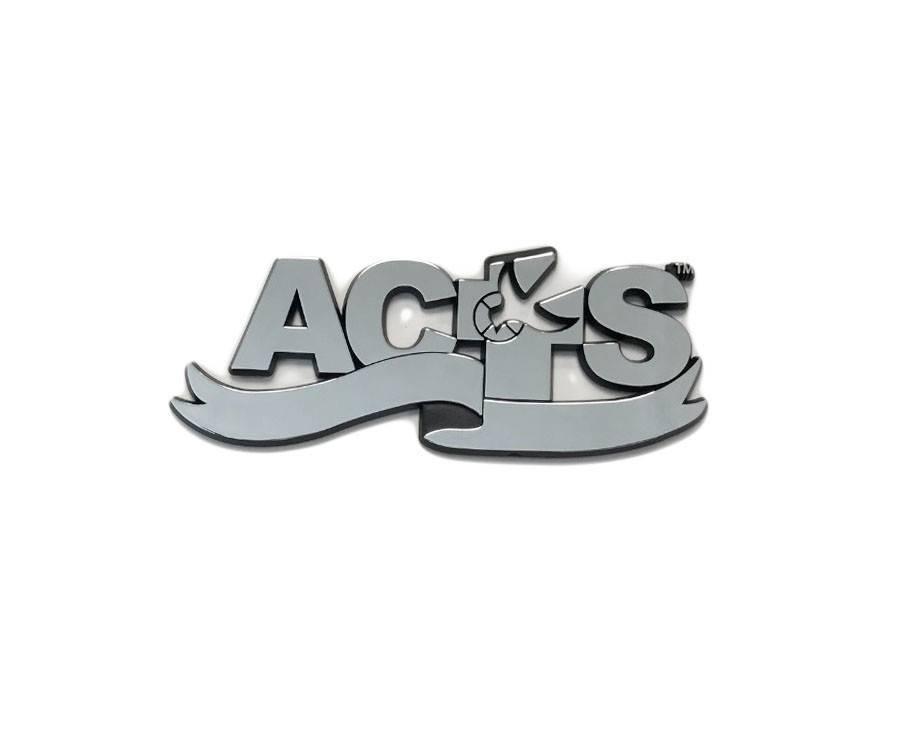 ACTS Ribbon Logo Chrome Auto Decal