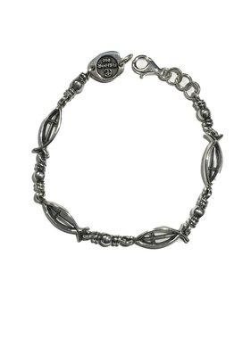 """Ichthus Link w/Cross SS Bracelet 8"""""""