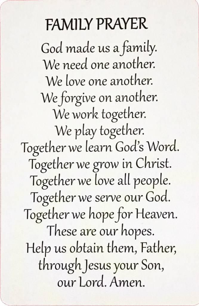 Family Wallet Prayer Card