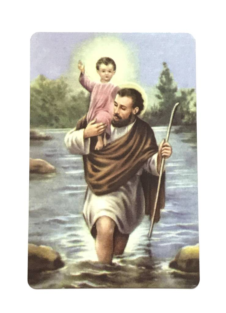 St Christopher Patron of Travelers Wallet Prayer Card
