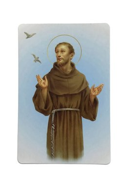 St Francis of Assisi Wallet Prayer Card