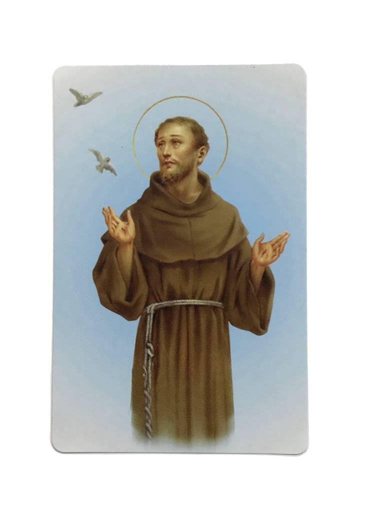 St Francis of Assisi Wallet Prayer Card