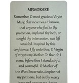 Memorare Wallet Prayer Card