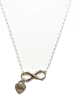 Sisters Infinity Pendant w/Cartier Chain SS