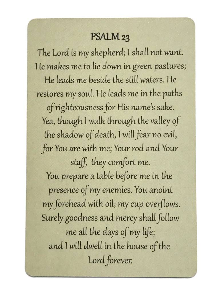 Psalm 23 Wallet Prayer Card