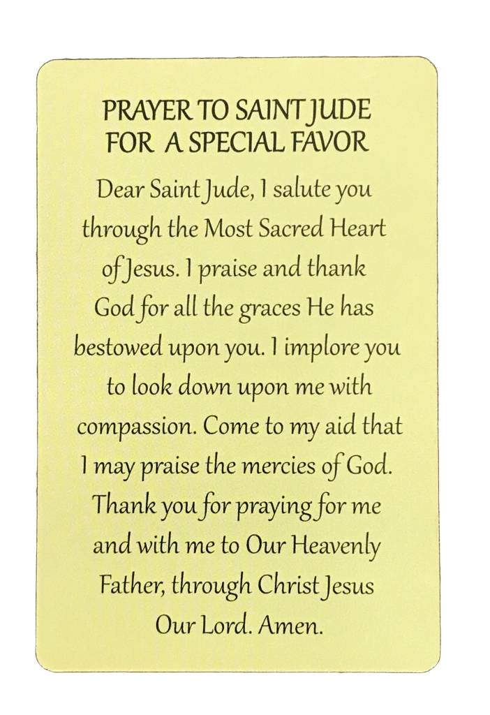 St. Jude Wallet Prayer Card