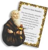 St Benedict Pocket Saint w/Prayer Card