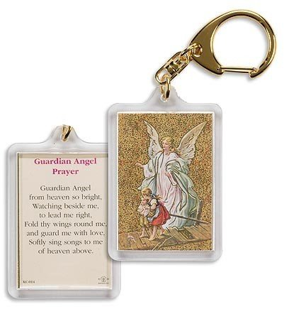 Guardian Angel Prayer Keychain