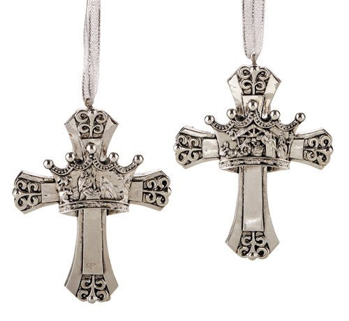 Cross Crown Ornament