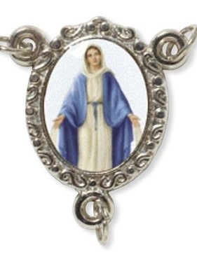Our Lady of Grace Epoxy Rosary Centerpiece