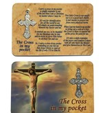 Cross In My Pocket Prayer Card w/Crucifix