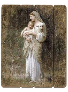 """15"""" Bouguereau Innocence Plaque"""