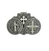 St. Benedict Pewter Auto Visor Clip