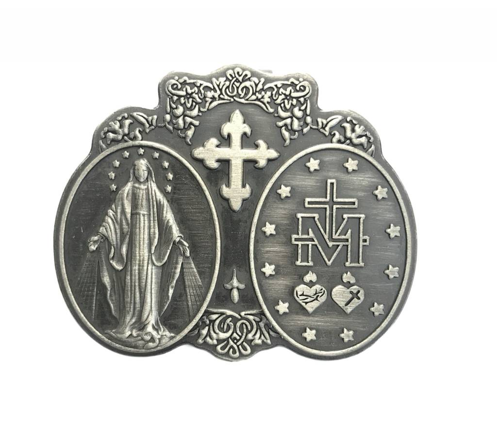 Miraculous Mother Pewter Auto Visor Clip