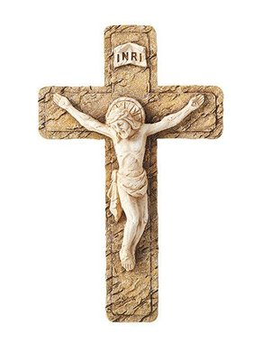 Stone Textured Wall Crucifix