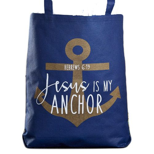 Jesus Is My Anchor Tote Bag