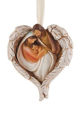 Holy Family Angel Wing Ornament