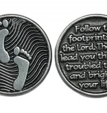 Footprints Pewter Pocken Token